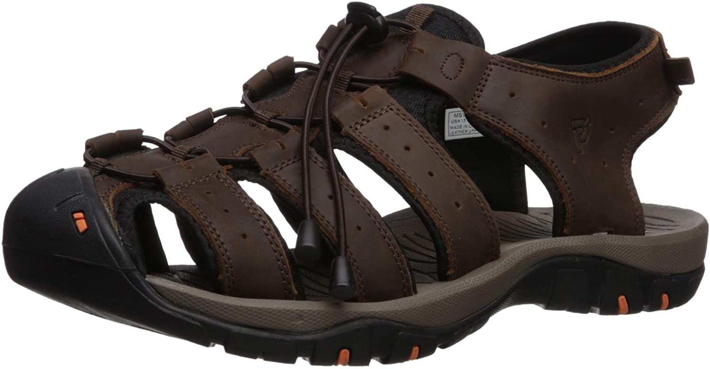 Propet Men's Kona Quantity limited Sandal Brown US 5E Sale 11.5