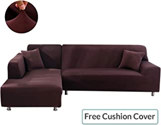 ANGELLOONG Sofa Slipcovers for Sectional Sofa Couch Cover L-Shaped Sofa Protector for Living Room Right/Left Chaise
