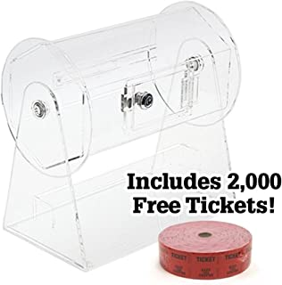 MIDWAY MONSTERS Small Acrylic Raffle Drum w/2,000 Free Tickets