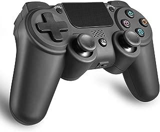 PS4 ワイヤレス コントローラー 無線 FPS イヤフォン 使用可 Bluetooth接続 6軸 振動 高耐久ボタン 日本取扱説明書付き AnvFlik