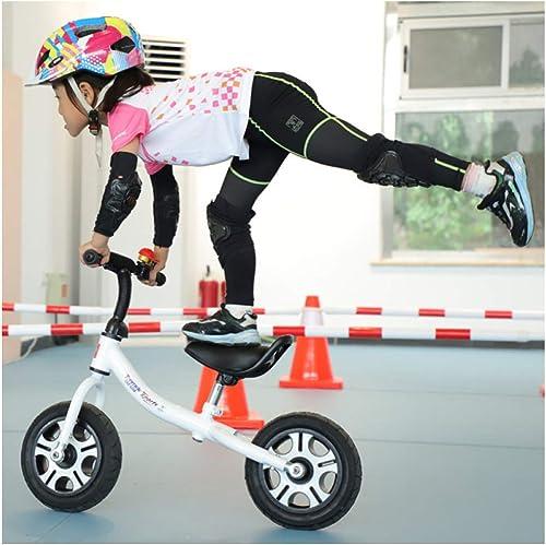 CHRISTMAD Ultraleichte Kinder Kinder Erste Balance Training Leichte Metall Fahrrad 10 Rad Zyklus Fahrrad 80-120 cm,10  Weiß