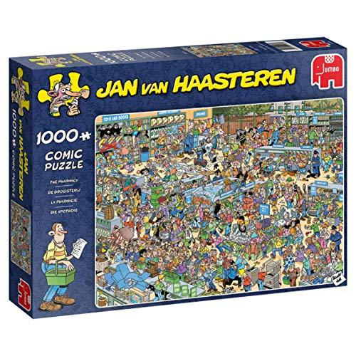 Jumbo 19199 Jan Van Haasteren - Die Apotheke, 1.000-Teile-Puzzle