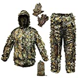 ANYDKE Ghillie Suit Camouflage Hunting Suits Outdoor 3D...