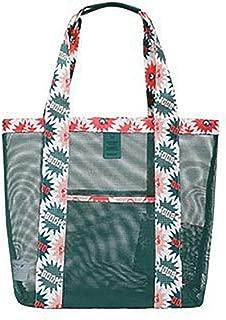 COAFIT Mesh Handbag Casual Tote Bag Beach Bag Outdoor Shopping Bag