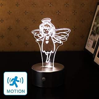 WRalwaysLX Acrylic Motion Sensor LED Night Light, Decorative Lamp for Kids, Bedside Lamp, 3