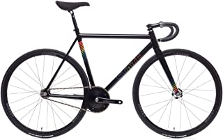 State Bicycle Co. The Undefeated II - Black Prism Edition - 7005 Aluminum Premium Fixed Gear Bike 55cm
