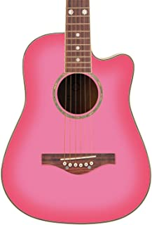Best Daisy Rock Wildwood Short Scale Acoustic Guitar, Pink Burst Review