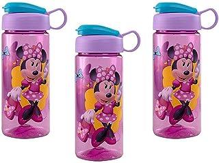 Disney [3-Pack] Minnie Mouse 16.5oz Kids Sullivan Sports Water Bottle, BPA-Free