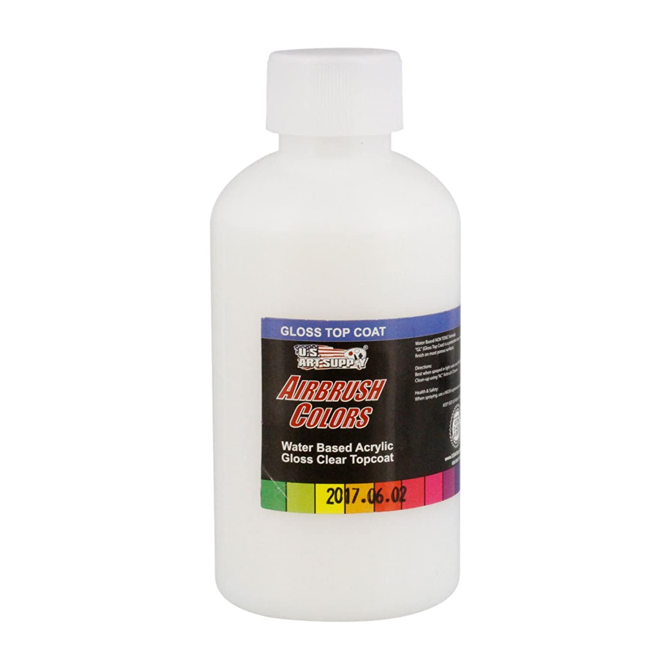 US Art Supply Clear Gloss Topcoat Acrylic Airbrush Paint, 8 oz. also excellent as a Gloss Pouring Medium blender