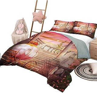 Nomorer Funda nórdica Colcha de Dormitorio Liviana para niña Adolescente tamaño Doble para Todas Las Estaciones Diseño de Cuento de Hadas de fantasía