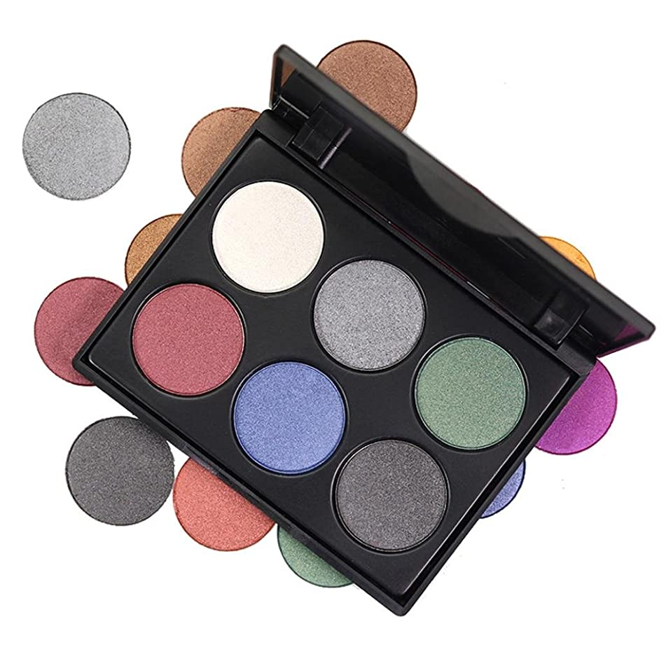 Ec Set 6 Colors Eyeshadow Cosmetic Matte Eyeshadow Cream Makeup Palette Shimmer