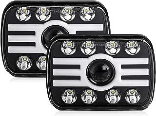 CO LIGHT 2pcs 2020 New 5x7 Inch LED Headlights 116W 7x6'' Sealed Beam Angel Eye DRL Handlamp for Jeep Wrangler YJ XJ Chero...