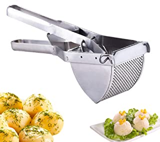 Potato Ricer Masher, Heavy Duty Commercial Potato Ricer and Masher, Stainless Steel Potato Ricer for Baby Food Cooked Carrot