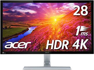 【Amazon.co.jp限定】PS4 pro対応 Acer ゲーミングモニター 4K HDR ディスプレイ RT280KAbmiipx (28インチ/TN/非光沢/3840x2160/4K/16:9/1ms/HDR10/HDMI2.0×2/D...