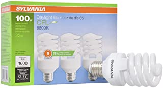 SYLVANIA General Lighting 26352 Sylvania CFL Light Bulb, 6500K, 3