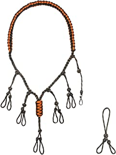 IUNIO Duck Call Lanyard Secures 5 Calls and Dog Whistle 550 Paracord Hand Braided Adjustable Loops with an Extra Loop