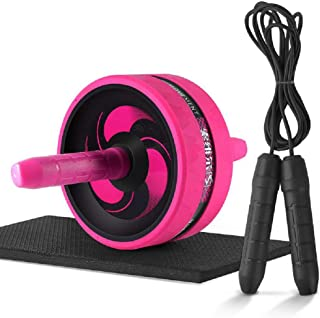HAI+Ab Roller Wheel for Abs Workout, AB Wheel Roller with Knee Mat and Jump Rope, Ab Roller Wheel Exercise Equipment, Ab W...