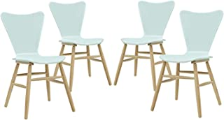 Mоdwаy Deluxe Premium Collection Cascade Dining Chair Set of 4 Four Light Blue Decor Comfy Living Furniture