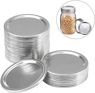 Canning Lids, Regular Mouth Mason Jar Lids and Bands, Stainless Steel Lids for Mason Jar Wide Mouth, Split-type Lids Leak ...
