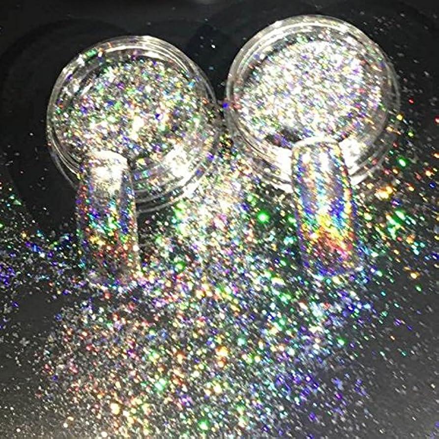 著者香り食用New Nail Glitters Galaxy Holo Flakes 0.2g/box Laser Bling Rainbow Flecks Chrome Magic Effect Irregular Nail Art Powders 2017