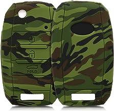 kwmobile Funda Compatible con Llave de 3-4 Botones para Coche Kia - Carcasa Protectora Suave de Silicona - Camouflage