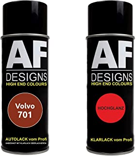 Autolack Spraydose Set für Volvo 701 Orange Flame Metallic Basislack Klarlack Sprühdose 400ml