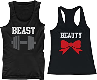 365 In Love Beauty and Beast Matching Tank Tops Couple Tanks Set