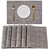 YSSHUI Placemats Set of 6, Placemat for Dining Table,Heat-Resistant Placemats, Stain Resistant Washable PVC Table Mats,Kitchen Table mats