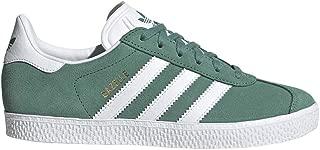 Adidas ORIGINALS Gazelle J Future Hydro/Gold Metallic/White Suede Junior Trainers Shoes