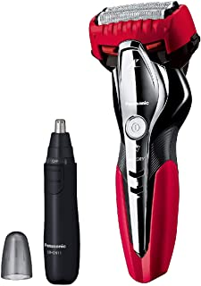 パナソニック ラムダッシュ メンズシェーバー 3枚刃 お風呂剃り可 赤 ES-ST2Q-R + エチケットカッターER-GN11-K セット