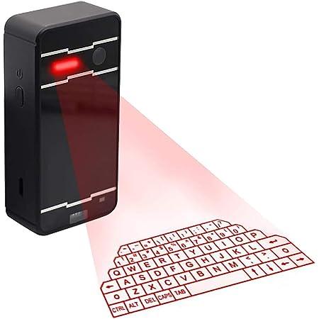 ASHATA Teclado Virtual portátil Bluetooth, Mini Wireless ...