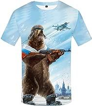 KYKU Unisex Creative Animal 3D Printing Funny Graphic Couple Short-Sleeved T-Shirt