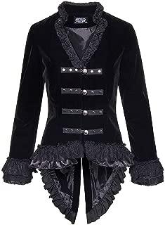 Womens H&R Velvet Victorian Jacket (Black)