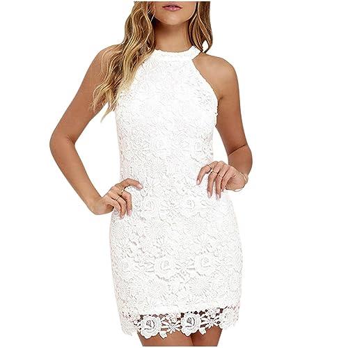 Vestido de encaje blanco df