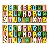 chatarra de reserva de diferentes tamaños madera contrachapada alfabeto Letras de madera
