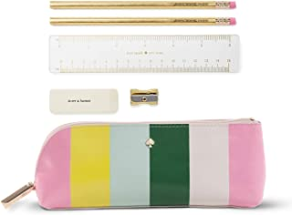 Kate Spade New York Pencil Case Brand Stripe One Size