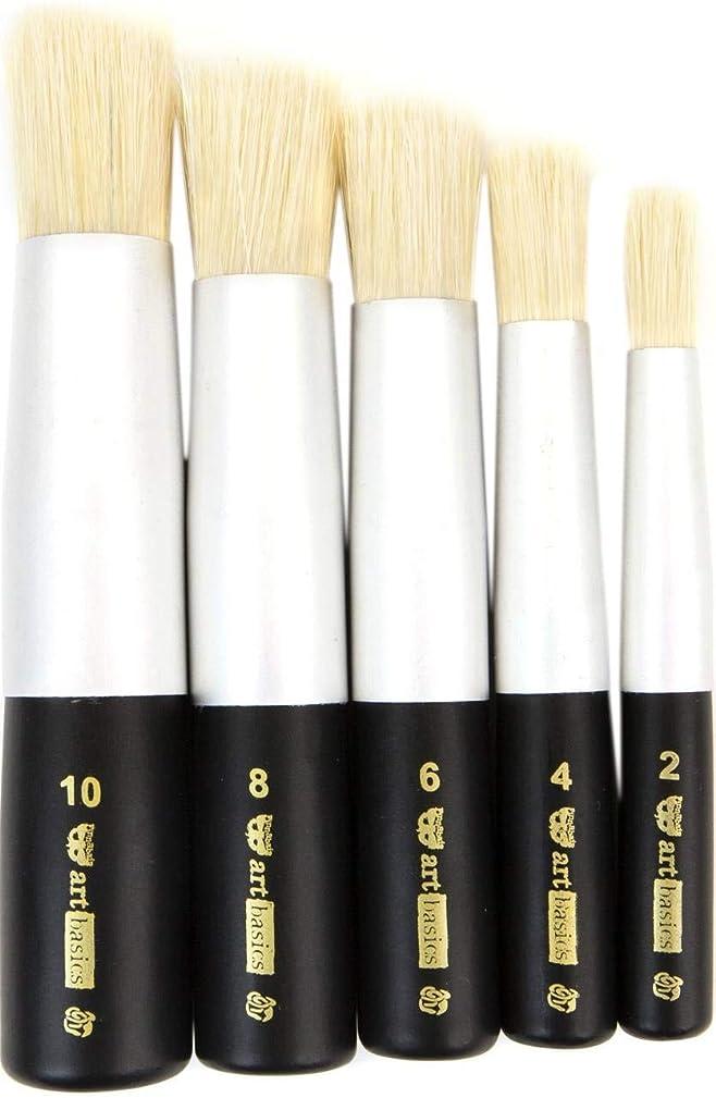航空便日焼けもろいFinnabair Art Basics Dabbing Brush Set - 5 Pieces