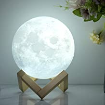 FULLOSUN Moon Lamp, 3D Printed Night Light ┃Remote & Tap & Touch Control with 16 RGB Colors, 4 Changing Mode, Dim Function...