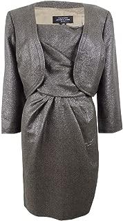 by Arthur S. Levine Nicholas/Lina Metallic Jacket Dress Pewter Grey