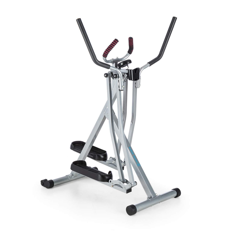 Capital Sports Air-Walker - Bicicleta elíptica, Caminador, Completo, Movimiento Horizontal y Vertical, Ordenador, Pantalla LCD, Soporte de Tablet, Plegable, hasta 100 kg, Plateado-Negro: Amazon.es: Deportes y aire libre