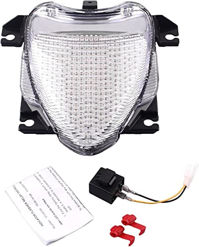 Mallofusa Motorcycle Integrated Taillight LED Brake Tail Light Compatible for SUZUKI M109/R 2006 2007 2008 2009 Clear Len