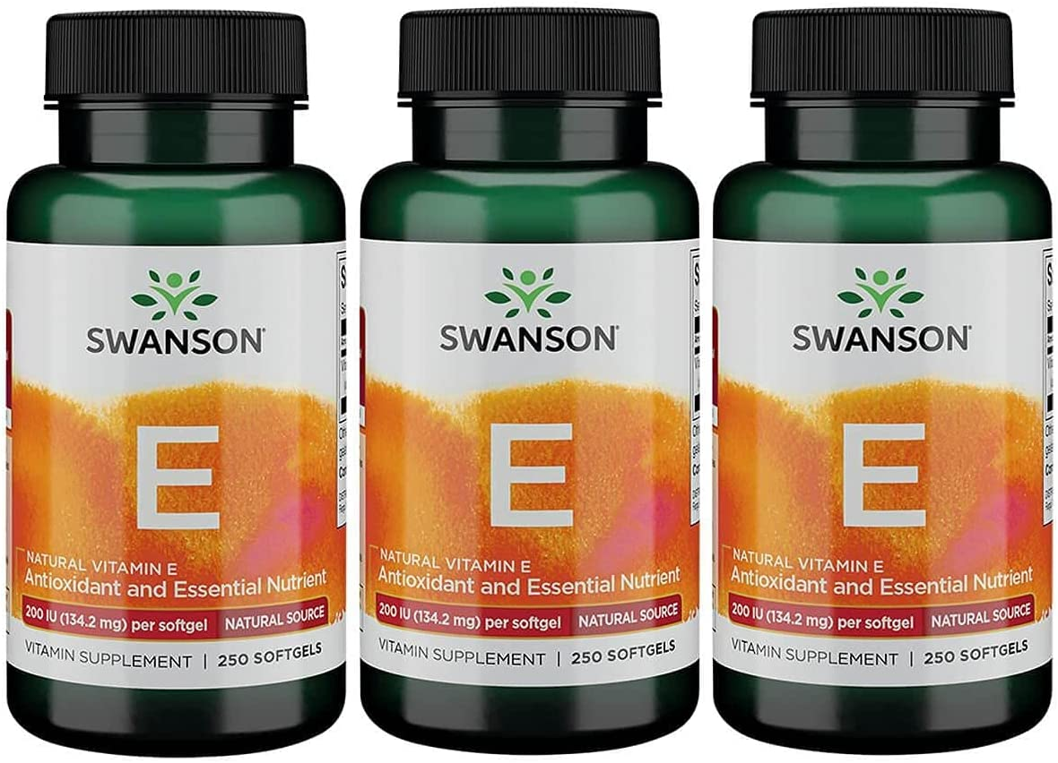 Swanson Natural Vitamin E 200 outlet Iu 134.2 Milligrams Translated 3 Sgels 250