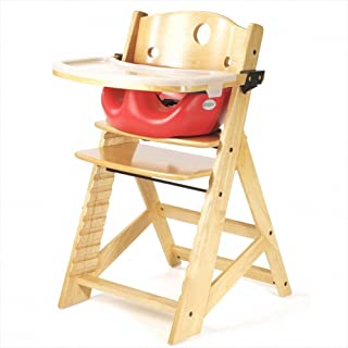 Height Right High Chair with Infant Insert & Tray, Natural/Cherry