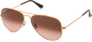 Ray-Ban, RB3025, Large Metal Aviator Sunglasses 62 mm, Aviator Sunglasses, G-15 Lenses, Multiple Lens Colors, 100% UV Protection, Non-Polarized Sunglasses, 4 Frame Colors, 62 mm