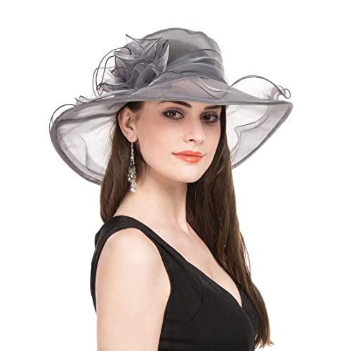 caf3d38f8ab93 Women Oganza Summer Sun Hat Beach Church Hat Ascot Race Derby Hat Cocktail  Wedding