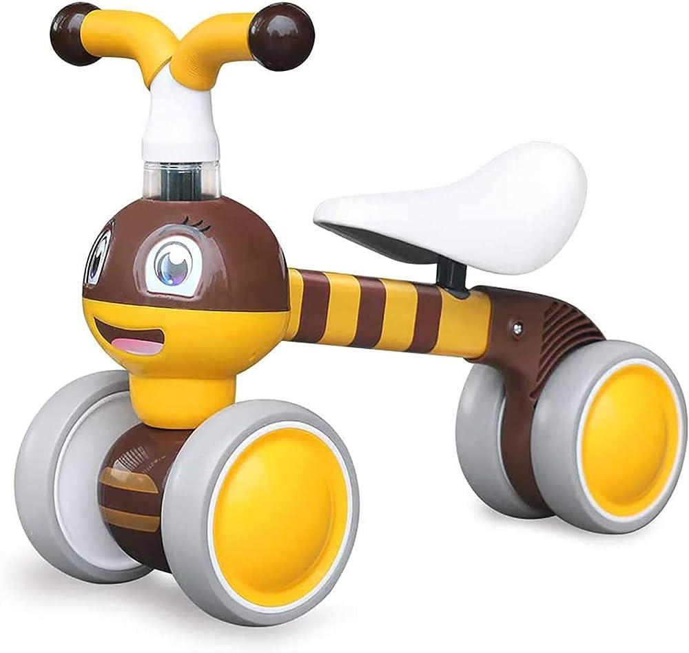 Ygjt bicicletta,triciclo senza pedali per bambini dai 10 ai 36 mesi ygjt