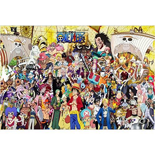 Designs One Piece Anime Cartoon Puzzles 1000 Pièces Puzzle en Bois Un Groupe Piece Affiche De Photo Adultes Puzzle Collection Puzzle Décompression Jouets Puzzle Game Puzzle Cadeaux Intéressants
