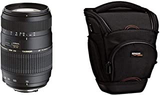 Tamron A17NII - Objetivo para Nikon (70-300mm f/4-5.6 Macro AF 62 mm) Color Negro + AmazonBasics - Funda para cámara de Fotos réflex Color Negro