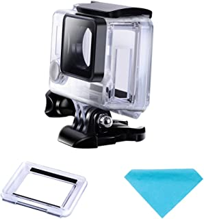 Suptig Protective case Charging case Wire Connectable Skeleton Protective Side Open Housing case for GoPro Hero 4 Hero 3+ Hero 3 camera