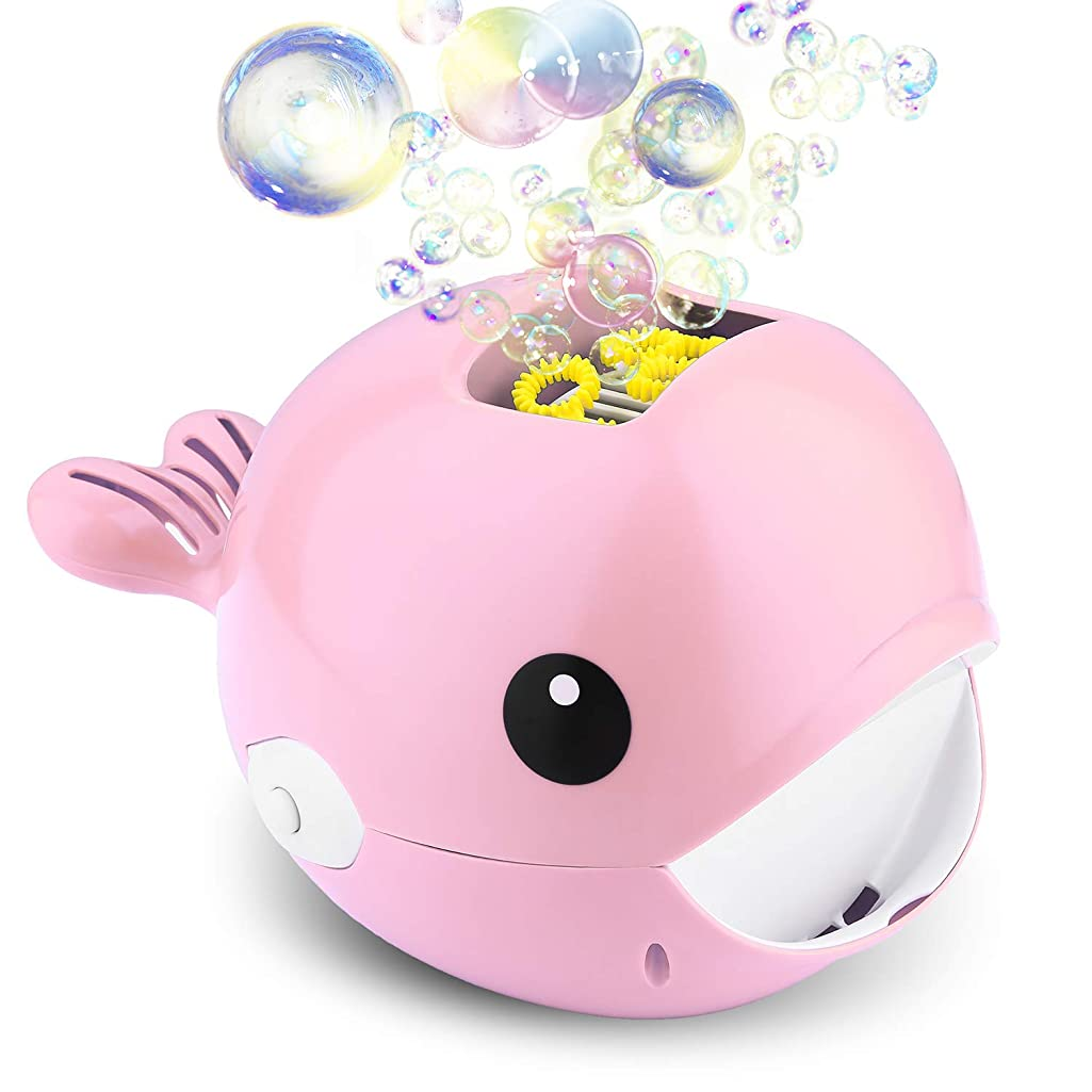 Biulotter Bubble Machine, Automatic Bubble Blower, Bubble Maker 2000+ Per Minute Bubble Machine for Kids, Easy to Use for Parties, Wedding, Indoor and Outdoor Activities (Bubble Machine Pink)